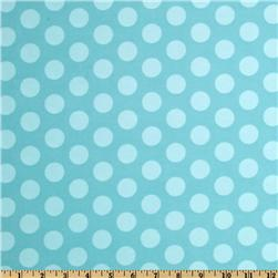 Curiosities Flannel Cookie Dots Aqua Sea