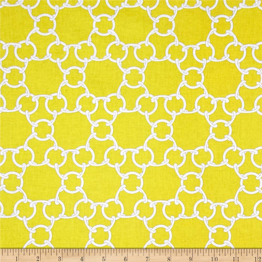 Cynthia Rowley Paintbox Chain Link Citron