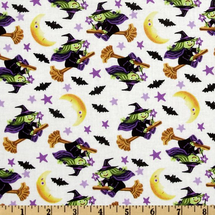 Trick or Treat Tossed Witches White