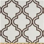 Softline Penrose Tile Burnout Drapery Sheers Chocolate/White