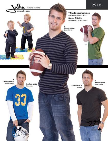 Jalie Men&#39;s T-Shirt Pattern