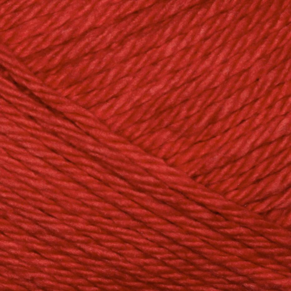 Lion Brand Lion Cotton Yarn (112) Poppy Red
