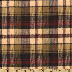 Windstar Yarn Dyed Flannel Small Plaid Tan-Red