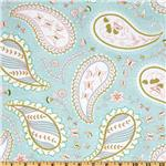Michael Miller Bella Butterfly Pretty Paisley Aqua
