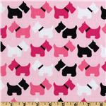 EL-166 Urban Zoologie Scottie Dogs Pink
