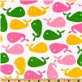 Urban Zoologie Whales Yellow/Pink/White