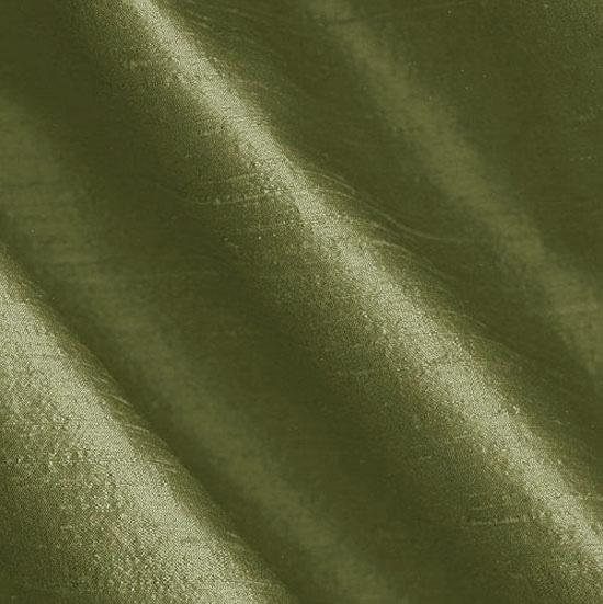 Dupioni Silk Fabric Iridescent Olive