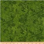108&quot; Flourish Quilt Backing Green