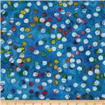 0269791 Indian Batik Dot Blue
