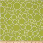 0290586 108&quot;  Wide Spot On Wide Quilt Backing Circles Chartreuse