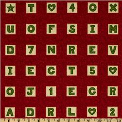 School House Fancies Scrabble Tiles Red