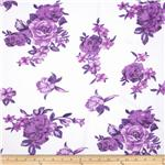 0271044 Angeline Chiffon Floral Purple/White