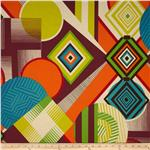 0264602 Africa Mwamba Abstract Tangerine/Chocolate