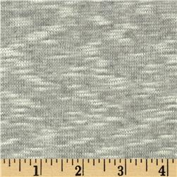 Stretch Rayon Slub Hatchi Knit Grey