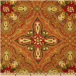 Holiday Flourish 5 Paisley Motif Crimson