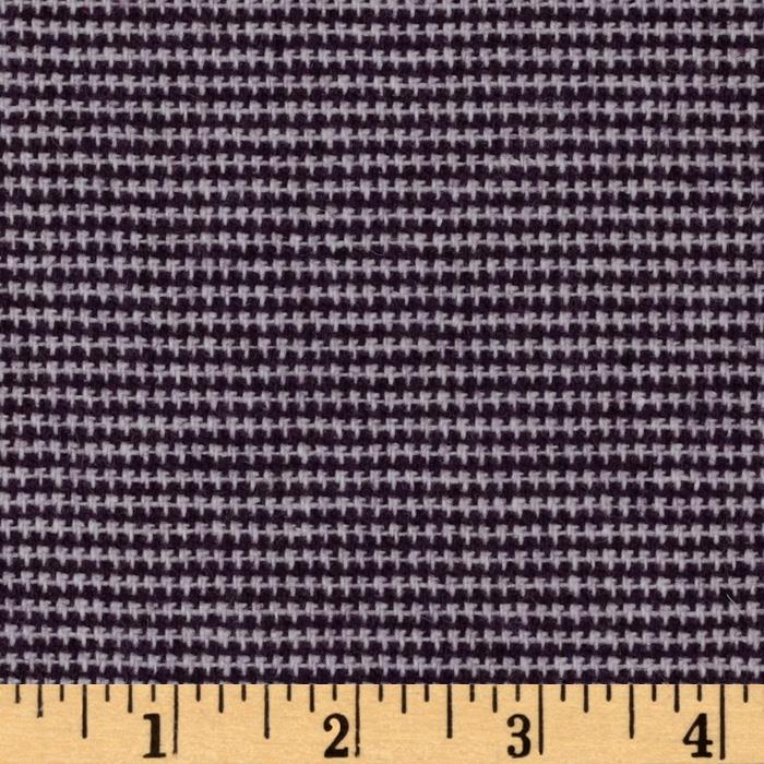 Wool Blend Suiting Mini Plaid Purple/White