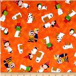 0285187 Peanut's Welcome Great Pumpkin Character Toss Orange