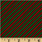 Goodnight Moon Diagonal Stripe Green/Orange