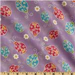 FI-345 Tossed Ladybugs Purple