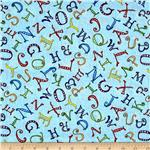 A-B-Seas Tossed Letters Blue