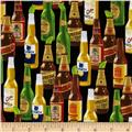 Timeless Treasures Cantina Beer Bottles Black