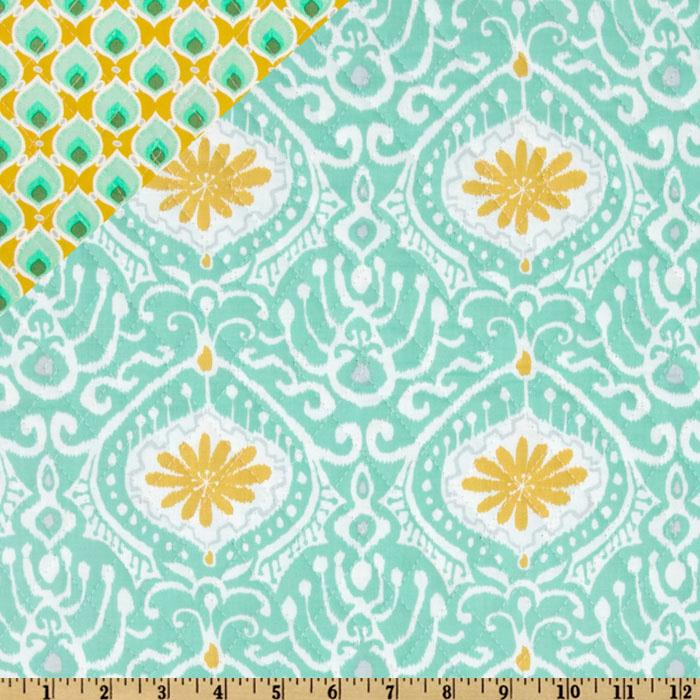 Moda Cuzco Double Sided Quilted Orchid Aqua