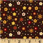 Garden Patch Flower Toss Brown