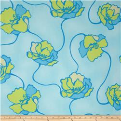 Chiffon Floral Light Blue/Lime