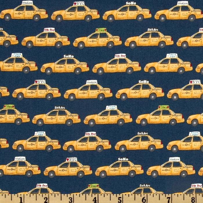 NYC New York Taxis Blue