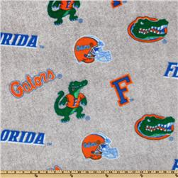 Collegiate Fleece University Of Florida All Over Heather Grey
