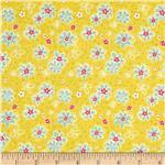 0285444 Backyard Butterflies Florecitas Pink/Lemon