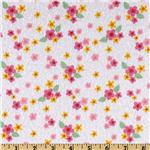 Hip Hoppity Flannel Ditsy White
