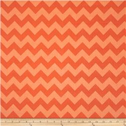 Riley Blake Wide Cut Chevron Medium Tone on Tone Orange