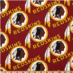 CK-221 NFL Cotton Broadcloth Washington Redskins Maroon/Gold