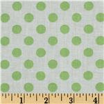 FJ-974 Dots Green/White