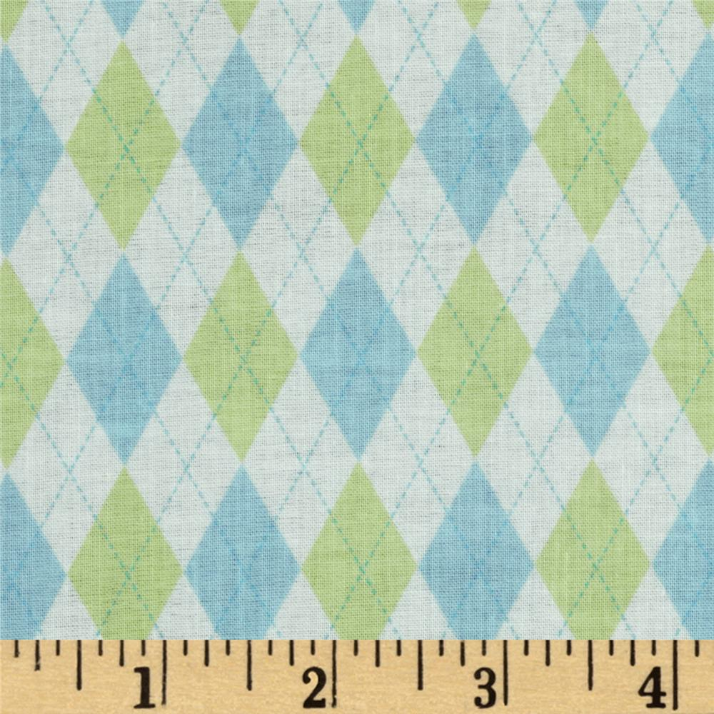 Baby Business Mini Argyle Blue/Green