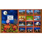 0285182 Peanut&#39;s Welcome Great Pumpkin Panel Orange/Royal