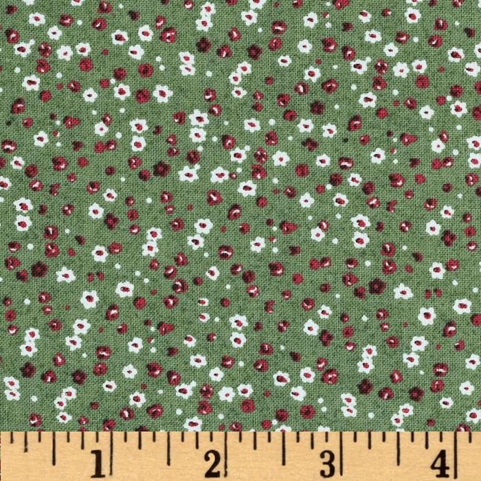Homeschool Tossed Floral Green