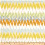 0268797 Blomma Ikat Chevron Beige