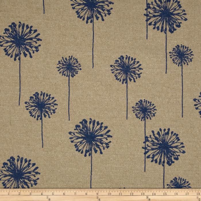 Premier Prints Dandelion  Peacock/Blue Denton