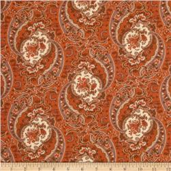 Verna Mosquera October Skies Cotton Voile Paisley Pale Moon