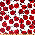 Urban Zoologie Slicker Laminated Cotton Lady Bugs Ruby