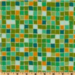 Della Flannel Squares Grass