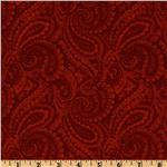 EL-565 108&#39;&#39; Complementary Quilt Backing Paisley Crimson