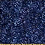 FU-163 Diagonal Dots 108'' Quilt Backing Blue/Purple