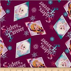 Disney Frozen Sister's Forever Badge Toss Purple