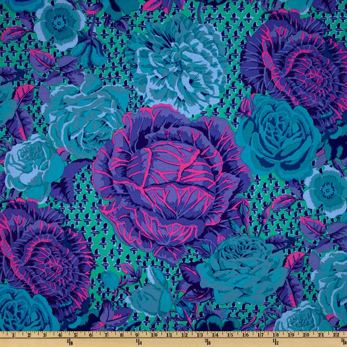 Kaffe Fassett Collective 2012 Cabage Rose Blue