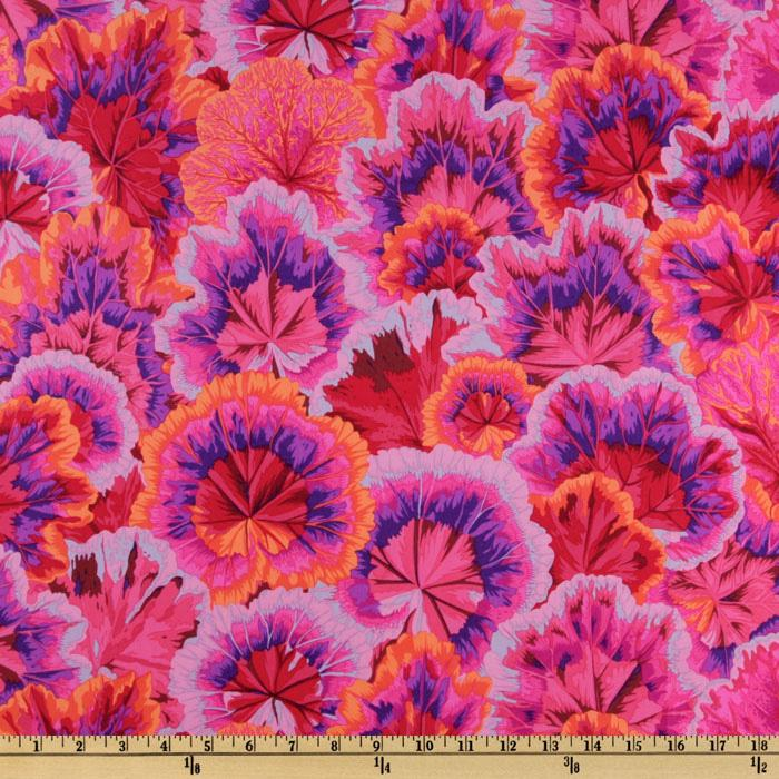 Kaffe Fassett Collective 2010 Hot Variegated Leaves Red