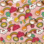 Bobby Jack Rainbows Sunshine Pink/Multi