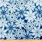 0267545 Minky Softie Snowflakes Blue